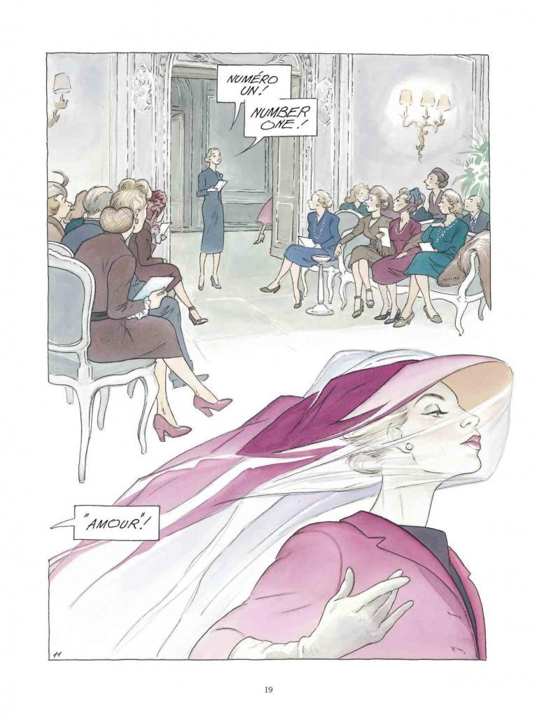 Extrait de « Jeune Fille en Dior » chez Dargaud.