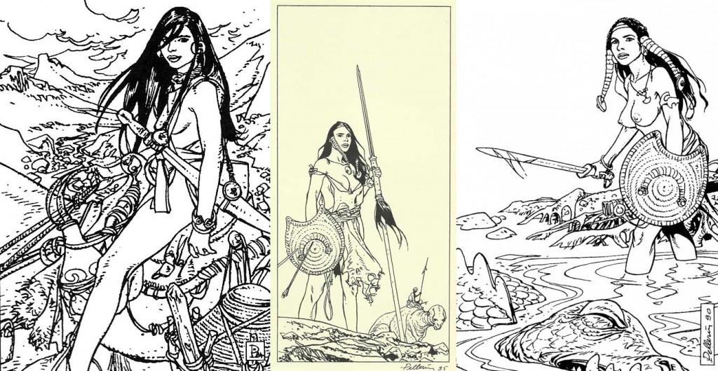 Cases extraites de « La Planète perdue », bande dessinée inédite de science-fiction.