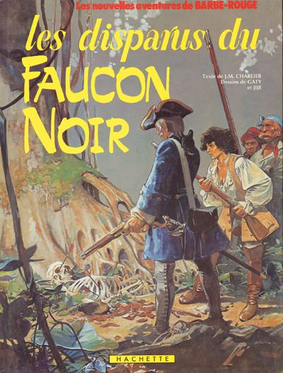 Gouache de Patrice Pellerin pour la couverture de « Les Disparus du Faucon noir», épisode de « Barbe-Rouge » dessiné par Jijé et Lorg, puis Christian Gaty.