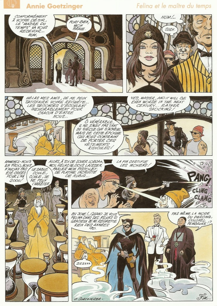 Annie Goetzinger dans le collectif « La BD du 3e» édité par la Loterie romande en 2000.