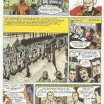 Première page du « Héros de Budapest » nettoyée par le studio Graton pour l'intégrale.