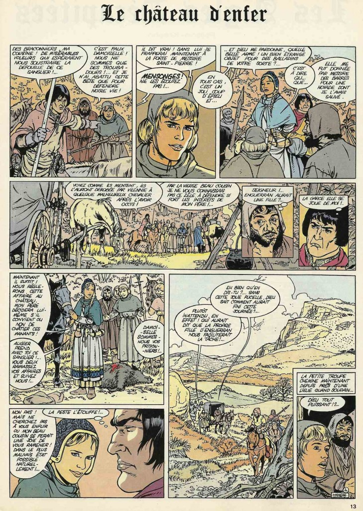 Extrait du premier épisode des « Aigles décapitées » dans Vécu, sous le titre « Le Château d'enfer ».