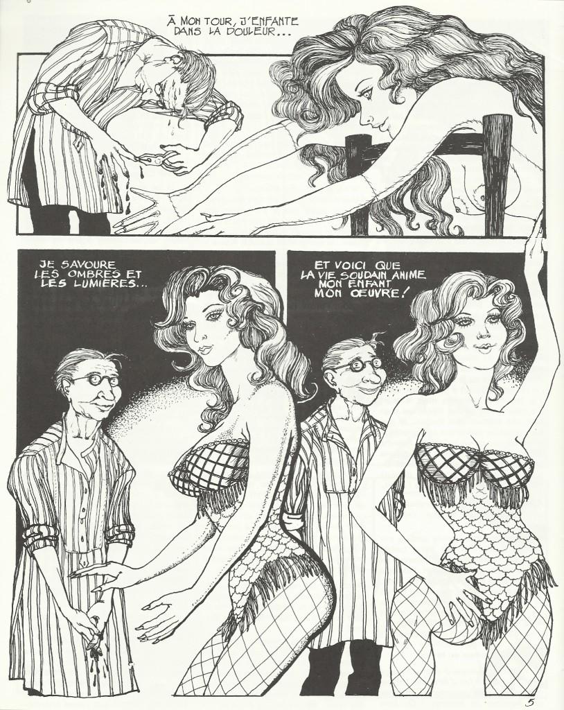 Deux pages de « Désirs» telles qu'elles furent publiées, en avant-première, dans le n° 19 de Schtroumpf Fanzine, en mai 1978.