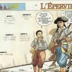 Dessin pour un calendrier paru dans le n° 3323 de Spirou daté du 19 décembre 2001.