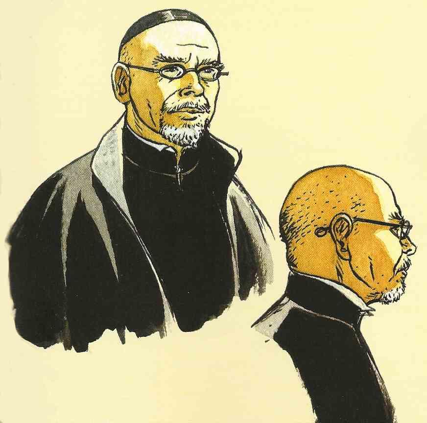 Claude Gendrot croqué pour « Les Larmes de Tlatoc ».