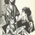 Illustration pour « Le Buveur de vent » de Dominique Ménager, pour la collection Signe de piste, en 1978,.