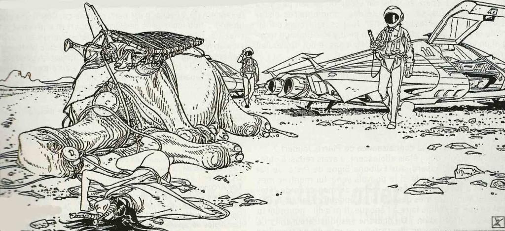 Une case extraites des 32 planches inédites de « La Planète perdue », réalisées entre 1985 et 1989.