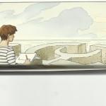 Carton d'invitation pour l'exposition « Le Regard des jours » : 80 dessins parus dans La Croix, en 2007.