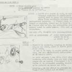 Scénario et croquis de Jean-Michel Charlier pour la page 7 des « Révoltés de la Jamaïque ».