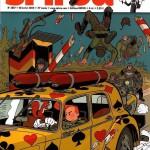 L'intrépide héros va faire du ménage !  Couvertures de Spirou n° 3697 et n° 3704 (2009) : début et fin d'une prépublication...