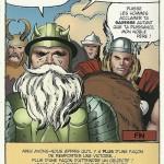 Après... Regardez bien et comparez avec la case originale la fossette de la joue de Thor, les traits du casque et de ses ailes, et les traits de fourrure et d'armure d'Odin...