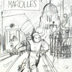 Crayonné d'O. Schwartz pour la réédition bruxelloise de 2011 et version définitive
