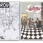 Crayonné pour l'album majing-of (inclu dans le coffret Bruno Graff, 2010) et ex-libris de Yann réalisé en 1983 à l'occasion d'une expo sur Spirou (la Galerie Sans-Titre de Bruxelles).