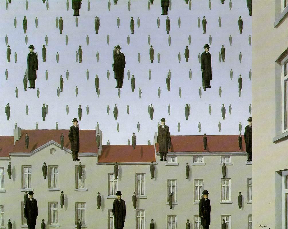 Golconde par Magritte