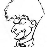 Georges Troisfontaines croqué par Victor Hubinon.