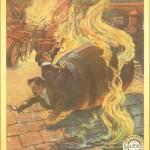 """Affiche du 2ème film de Louis Feuilade (1913 : """" Juve contre Fantômas """", adapté du roman éponyme."""