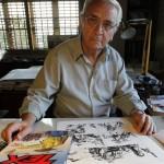 José Ortiz dessinant Tex.
