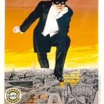 """Affiche de """" Fantômas - A l'ombre de la guillotine (L. Feuillade, mai 1913)"""