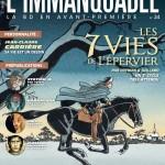 Une version alternative de la couverture, pour annoncer la prépublication au sein de L'Immanquable (n° 34 en novembre 2013)
