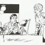 Dessin réaliste de Martial à la World's pour Bonnes Soirées, sous le pseudonyme de Benoît Laroche.