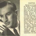 Présentation de Martial dans le n° 39 de Pistolin, en 1956.
