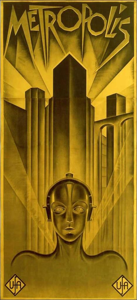 """Affiche de """"Metropolis"""" par F. Lang"""