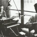 Avec Albert Uderzo dans les bureaux de la World's Presse.