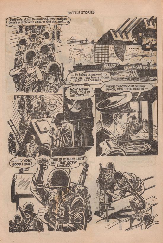 La magnifique histoire de Battle Stories n° 2, probablement due à Bob Powell.