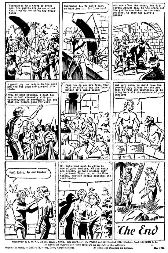 Couverture et dernière page (avec les mentions d'éditeur et imprimeur) de Robin n° 52, daté de mai 1952.