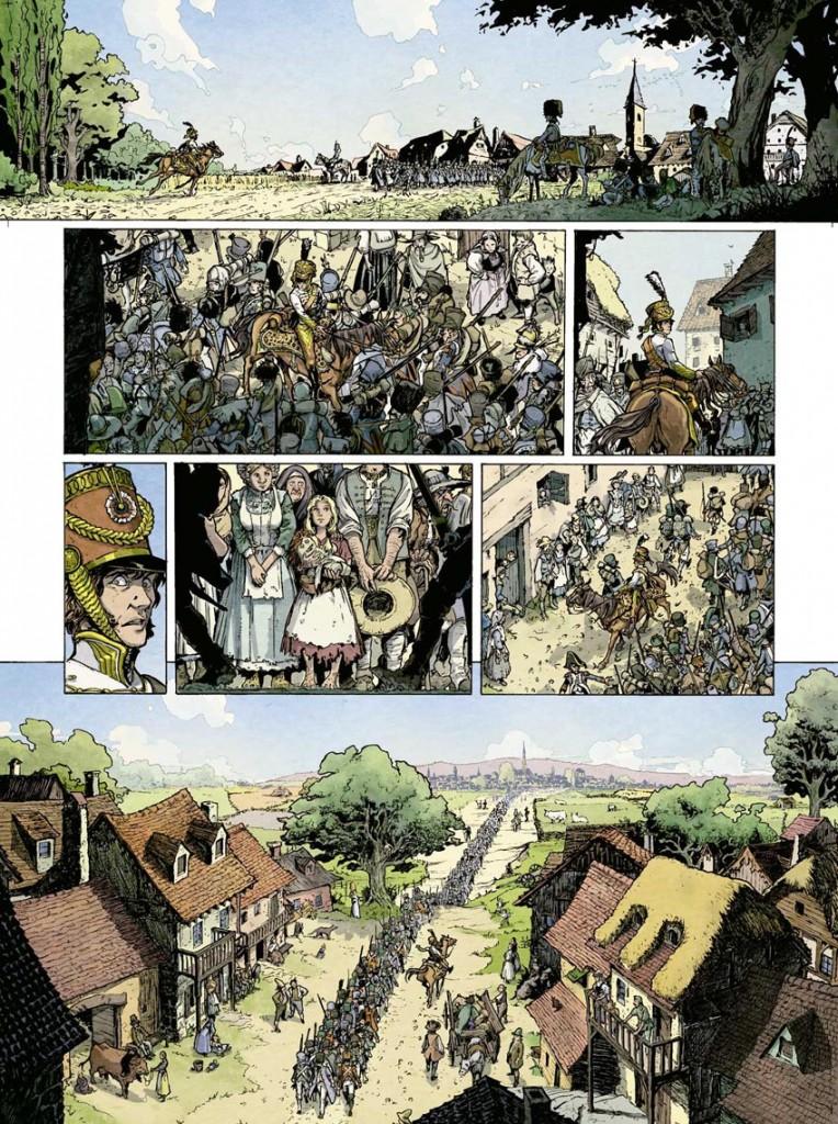 Les troupes aux abords de Vienne (planche 3 du tome 1)