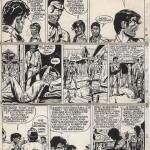 Une planche originale de l'épisode « Le Duel » de la série « Jerry Spring ».