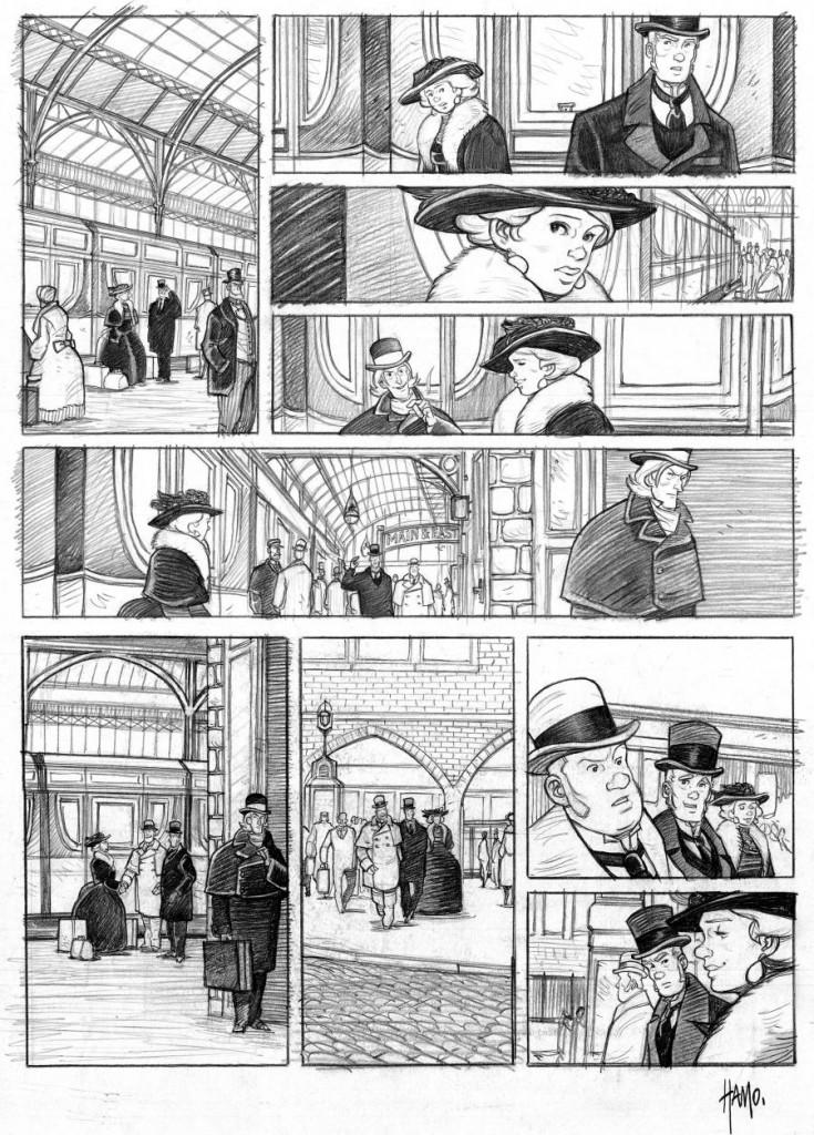 Crayonné finalisé pour la planche 19 du tome 1 par Hamo