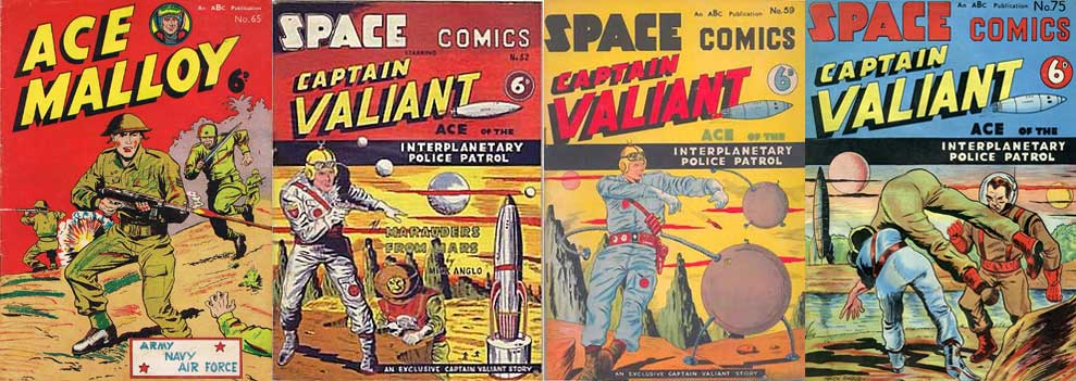 Quelques couvertures de Ace Malloy et Space Comics.
