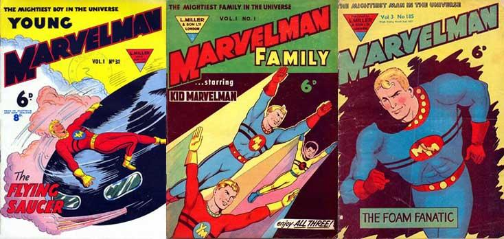Quelques couvertures de Marvelman.