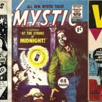 Quelques revues d'horreur de L. Miller & Co. (Hackney) Ltd + Une publicité parue dans Mystic pour les revues Miller & Co. (Hackney), Ltd.