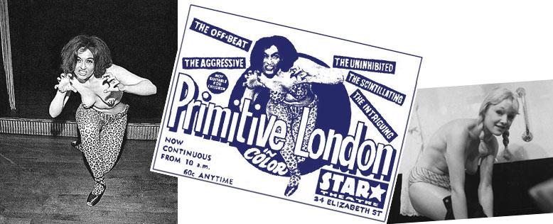 Primitive London et deux « actrices » légères du film.