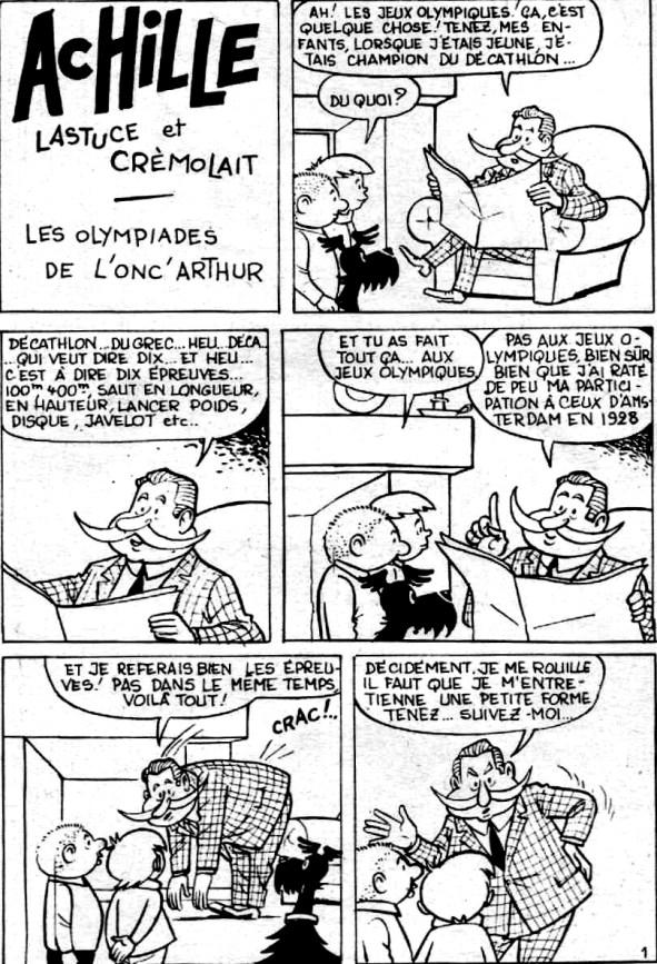 « Achille, Lastuce et Crémolet » dans Le Journal de Bibi Fricotin.