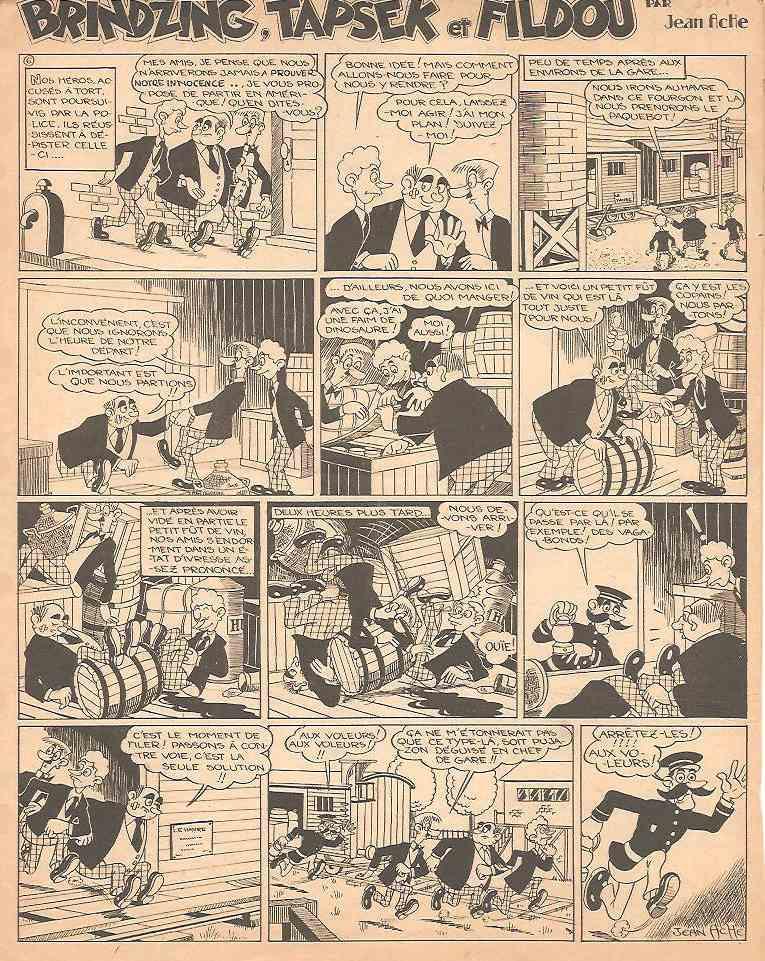 « Brindzing, Tapsek et Fildou », une autre BD de Jean Ache publiée dans O.K., en 1947.