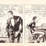 Un strip original de « Secret Agent X-9 » d'Alex Raymond.