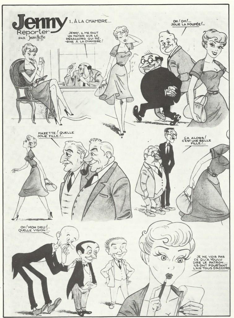 Planche parue dans Oxygène n° 7 (du 10 janvier 1950) et reprise dans le n°45 du Collectionneur de bandes dessinées.