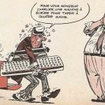 Charlier caricaturé par Uderzo dans le n° 213 de Pilote.
