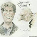 Caricature de Xavier Gélot et François Dermaut par le dessinateur de « Malefosse».