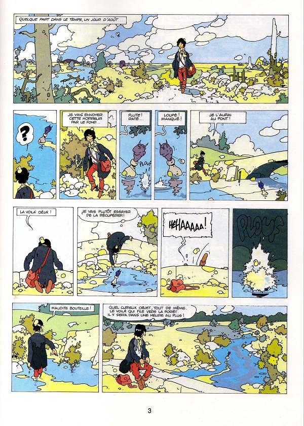 La Malédiction des sept boules vertes T1 première planche édition 1988
