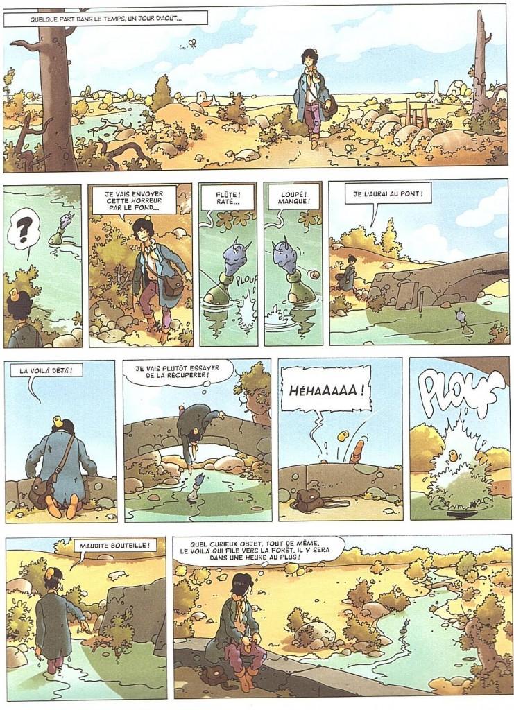 La Malédiction des sept boules vertes première planche édition 2014