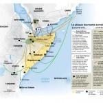 Les dynamiques somaliennes. Cartographie de François Prosper (Sources : Le Monde Diplomatique, 2011)