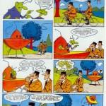 """""""Ovni soit qui mal y pense pour le Journal du Dimanche en 1976 et 1977 dans Tintin."""