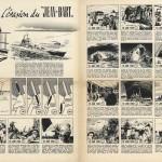 """« L'Évasion du """"Jean Bart"""" » dans la maquette du n° 0 de Pilote."""