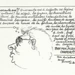 Dessin et texte de Daniel Bardet pour les 40 des éditions Glénat.