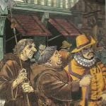 Les auteurs des « Chemins de Malefosse » caricaturés dans le tome 10.