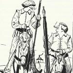 Dermaut et Bardet caricaturés par François Dermaut dans le n° 17 de P.L.G.P.P.U.R., à l'automne 1984.